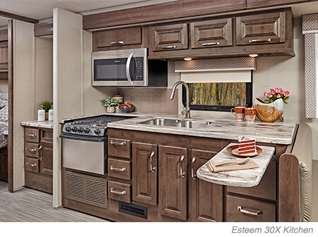 entegra coach class c esteem 30x kitchen