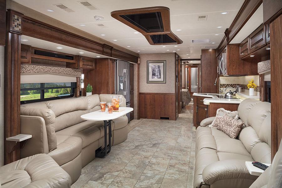 interior rv entertainment system 2018 aspire luxury class a mortorhome entegra coach