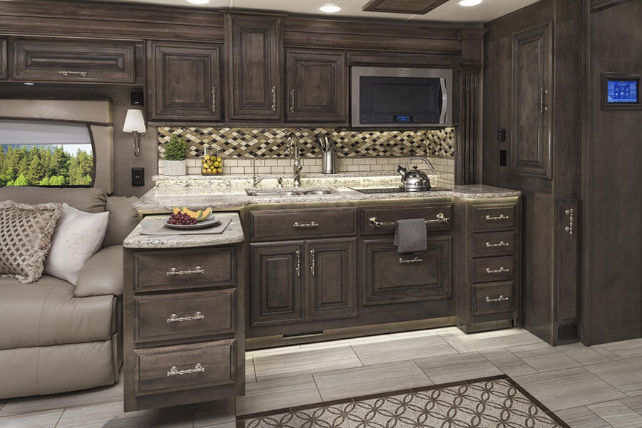 2018 cornerstone luxury class a motorhome entegra coach for Y kitchen rules 2018