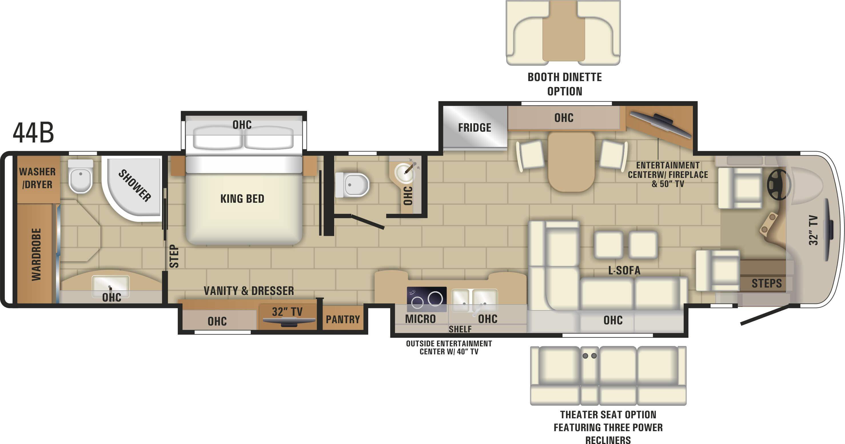 100 3 bedroom rv floor plan 100 5 bedroom floor for Rv square footage
