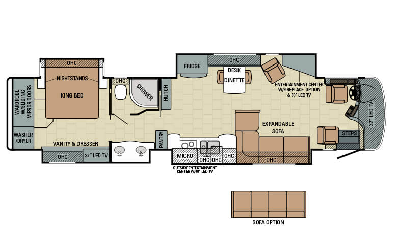 2016 aspire luxury motorhome entegra coach for Coach house floor plans